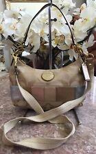 New COACH Signature Multi Stripe Demi Hobo Cross-body Bag F19201 MSRP $228