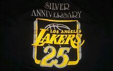Vintage LA Lakers Silver Anniversary T Shirt 50-50 thin 80's Kareem Magic