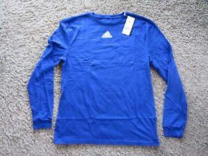 NWT adidas Amplifier Logo Long Sleeve T-Shirt Women's Size M 100% Cotton Blue