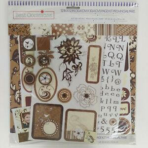 Best Occasions Floral Scrapbook Page Kit 12x12 Letters Designs 238 Pieces