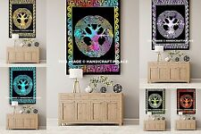 5 PC Wholesale Lot Tree of Life Indian Tapestry Cotton Wall Hanging Table Cover