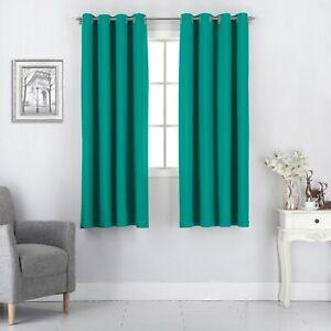 2 Panels Noise Reducing 100% Blackout Grommet-Top Window Curtains/Drapes Set