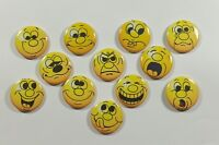 "Wholesale Party Set 24 1.25"" Pinback Buttons Badge Funny Faces-2"