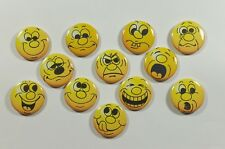"""Wholesale Party Set 24 1.25"""" Handmade Pinback Buttons Badge Funny Faces-2"""