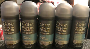 (5pk) Dove Men +Care Dry Spray Antiperspirant Deodorant Clean Comfort
