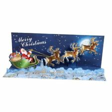 Panoramic Pop-Up Christmas Card with Sound - Moonlight Sleigh Ride
