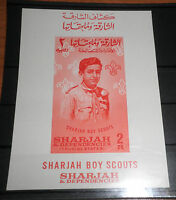 "FRANCOBOLLI SHARJAH 1964 ""BOY SCOUT"" NUOVO MNH** BLOCK IMPERF. (CAT.5A)"