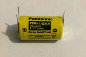10 X Panasonic Br-1/2 Aa 3V Industriale Batteria Al Litio Nuovo Venditore UK