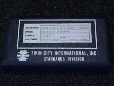 Lot x4 Twin City Calibration Standards