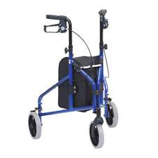 Drive Ultralight Tri-walker Blue 3 Wheels Walking Frame Mobility Aid Rollator