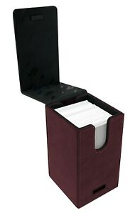 Ultra Pro Suede Collection RUBY Alcove Tower Deck Box - 100 Card Capacity