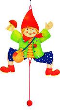HAMPELMANN Hampelfigur Junge Hampeljunge Deko Babyzimmer Kinderzimmer Holz NEU