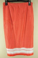 Vintage Beeline Rouge & Blanc Pois Polyester 15.2ms Jupe Taille 22 XL