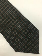 Chalky Luciano Barbara Olive Green Ancient Madder Floral Geometric Silk Tie