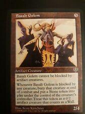 🌟 1, Basalt Golem, MTG Mirage, Magic The Gathering Artifact Creature Card (H4)