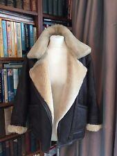 De colección chaqueta de piel de oveja Cuero Lakeland TALLA 10 de gran tamaño