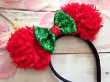 Disney Minnie Mouse Ears headband-Christmas Holiday Disneyland-Mickey Mouse-new