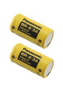 2 Panasonic BR 2/3A Size 3 Volt Lithium Industrial Batteries
