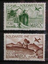 MAROC '1948 * MH PA65/PA66 YT 3,40 EUR,AVIATION,SERVICE POSTAL AERIEN,TRANSPORTS