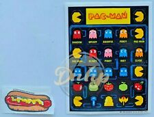 Pac-Man And Hot Dog Stickers Midway 1982 Vtg Made USA