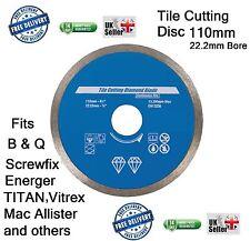 TILE cutter a disco lama di taglio 110 x 22.2 si adatta Screwfix TITAN Mac Allister 110mm