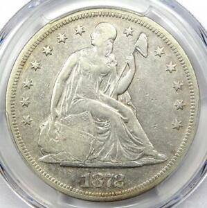 1872 Seated Liberty Silver Dollar $1 - Certified PCGS VF Details - Rare Coin!