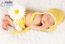 Newborn Baby Clothes Girl Boy Croche Knit Chrysanthemum Hat Photography Prop