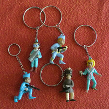 Thunderbirds Figurines BRAINS VIRGIL&SCOTT TRACY PARKER LADY PENELOPE KEYCHAINs