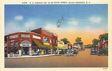 A80/ Black Mountain North Carolina NC Postcard Linen State Street Drug Store 2