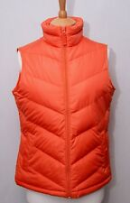 Lands' End women's orange down filled warm duvet padded gilet bodywarmer vest S