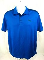 Puma Men's Sport Lifestyle DryCell S/S Blue Polo Style Pullover Sz L MSRP $35