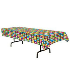 Party Supplies Birthday 70's Disco Squares Table cover Tablecloth