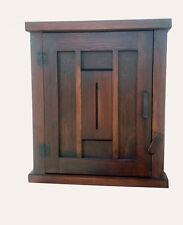 Handmade Mission Arts/Crafts Keyhole Design Wood Wall Cabinet