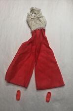 vintage barbie doll clothes 1960's Wide Leg , Lace Halter Top Pantsuit w/ Shoes