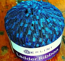 BERLINI  LADDER YARN (color #120) ~~ ONE SKEIN ~~ BRILLIANT BLUE
