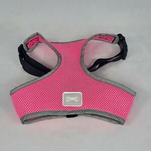 Simply Dog Mesh Padded Soft Puppy Pet Dog Harness Breathable Comfortable Pink-Lg