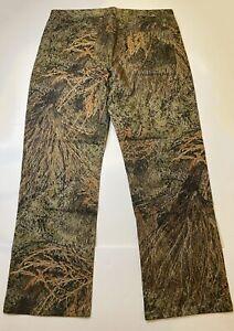 MOSSY OAK BRUSH Camouflage Pants Size 36x30 - 5 pockets, zip front, 100% cotton
