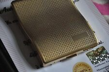 24K Gold Plated Cigarette Case Metal Cigar Up Tobacco Storage Box  Engravable