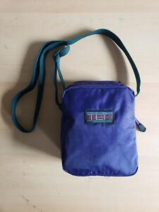 Vintage 90s Crossbody Shoulder Bag Purple TEK Camera Bag 2 Pockets NWOT Fanny
