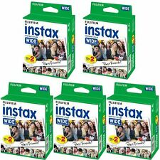 Fuji Instax Wide Instant Film 5 x Twin Pack - 100 coups de facture de TVA inclus