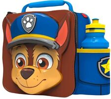 Official Paw Patrol Thermal 3D Chase Lunch Bag Box & Drink Bottle Set - 80759