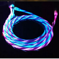 6Ft LED Lightning USB Cable Charger Cord for iPhone XR XS 11 Pro MAX 8 7 6 Plus
