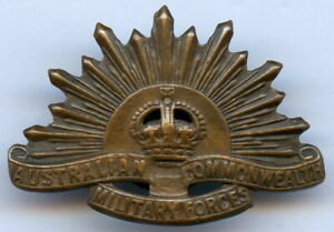WWI Australian Commonwealth Military Forces Cap Badge !!!