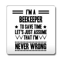 Black Never Wrong Beekeeper Funny Gift Idea Coaster work 020