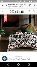 Hoffman queen size quilt cover set by Linen House