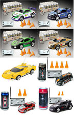 """(4)  3"""" Coke Can Mini RC Car Remote Control Rechargeable Toy Gift COLORS VARY"""
