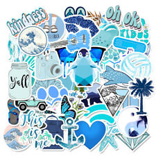 50PCS Blue Skateboard Stickers Vinyl Laptop Luggage Decals VSCO Girls Sticker