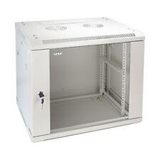 HMF 19 Zoll Serverschrank Netzwerkschrank 9HE, Montiert Wandgehäuse Tiefe 45 cm
