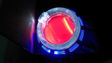 HID Double Ring Projector WITH COOLING FAN For CAR/ BIKE/ ENFIELD- BLUE- WHITE