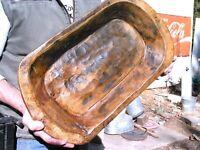 Wooden Farmhouse Dough Bowl 0911